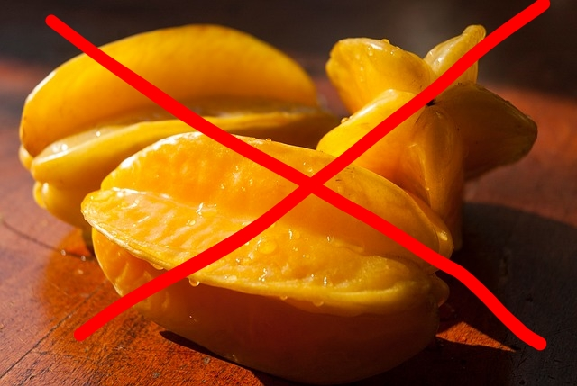 If you have kidney disease or kidney damage the one food you absolutely should not have is star fruit.
